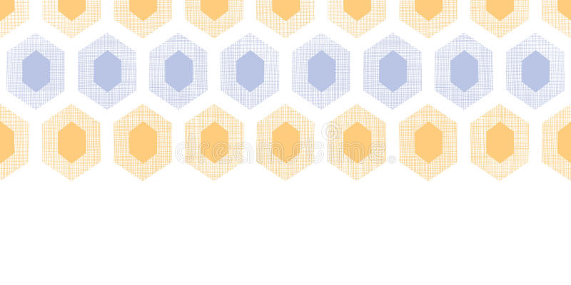 Abstract Purple Yellow Honeycomb Fabric Textured Horizontal Seamless Pattern Background Stock Vector