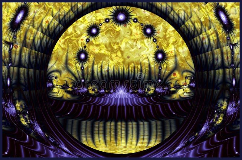 Abstract Purple Kaleidoscope Pattern vector illustration