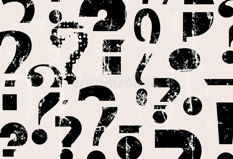 Abstract question mark background stock illustration