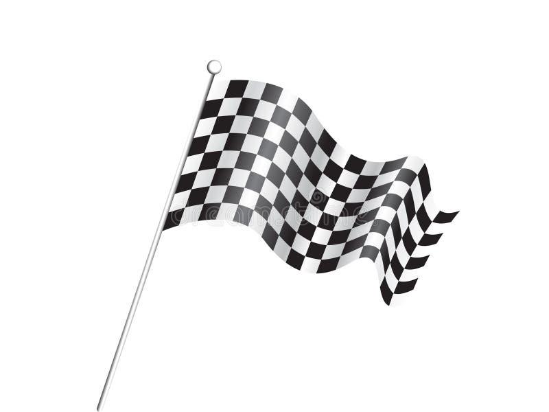 Abstract Race Flag Concept Royalty Free Stock Photos