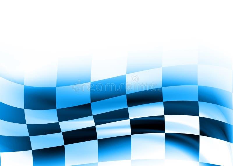 Abstract racing flag royalty free illustration