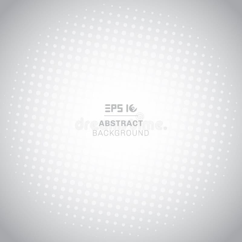 Abstract radiaal halftone patroon op witte achtergrond met exemplaarruimte stock illustratie