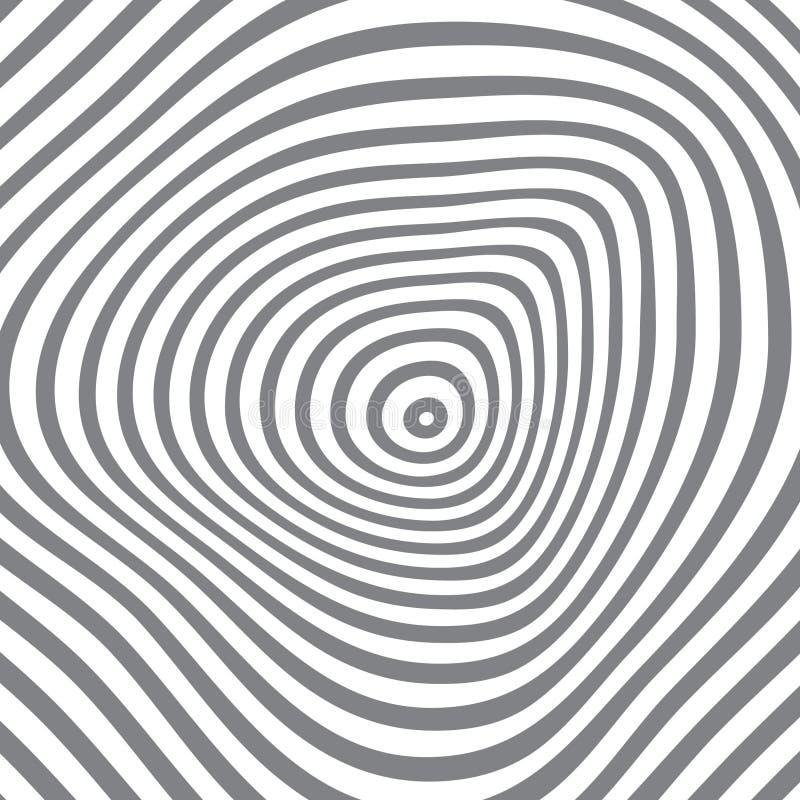 Abstract radiaal vectorpatroon stock illustratie