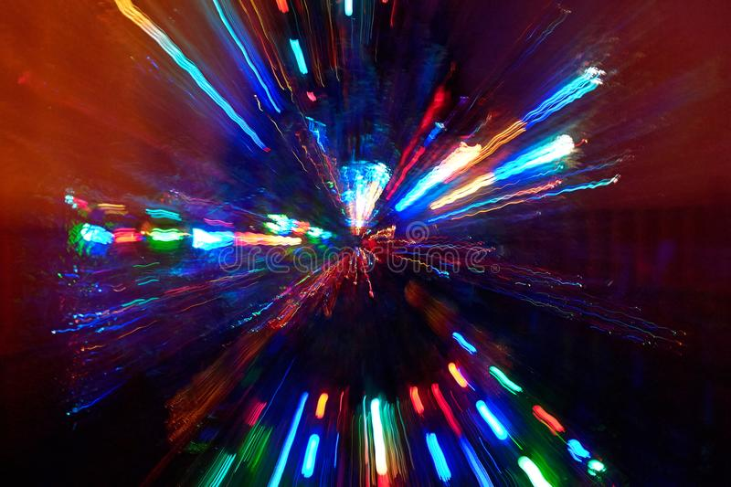 Abstract radial light painting royalty free stock photo