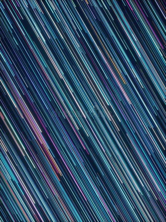 Abstract radial lines geometric background. Data flow. Optical fiber. Explosion star. Motion effect. 3d rendering - illustration stock illustration