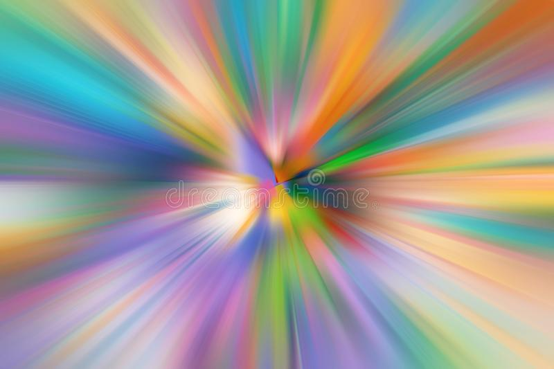 Abstract radial zoom gradient blur royalty free illustration