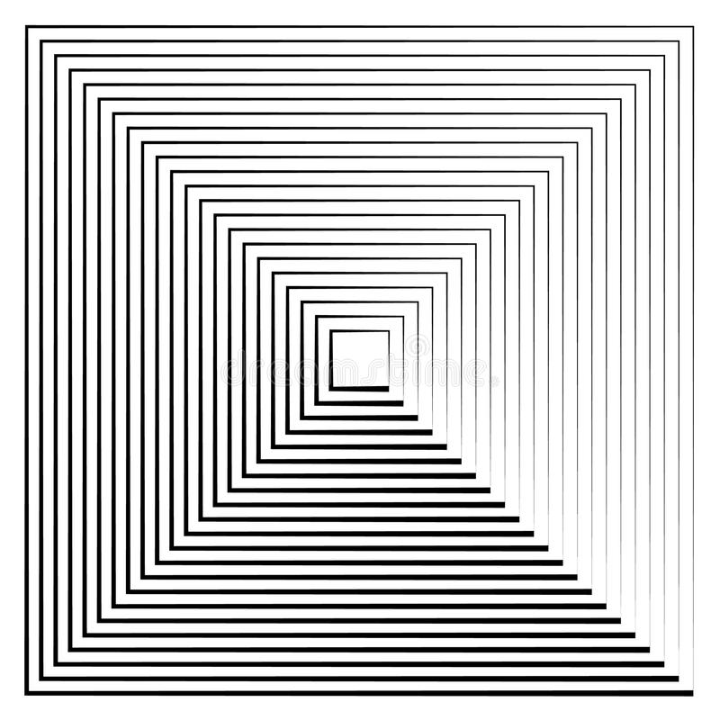 Abstract radiating contour lines. royalty free illustration