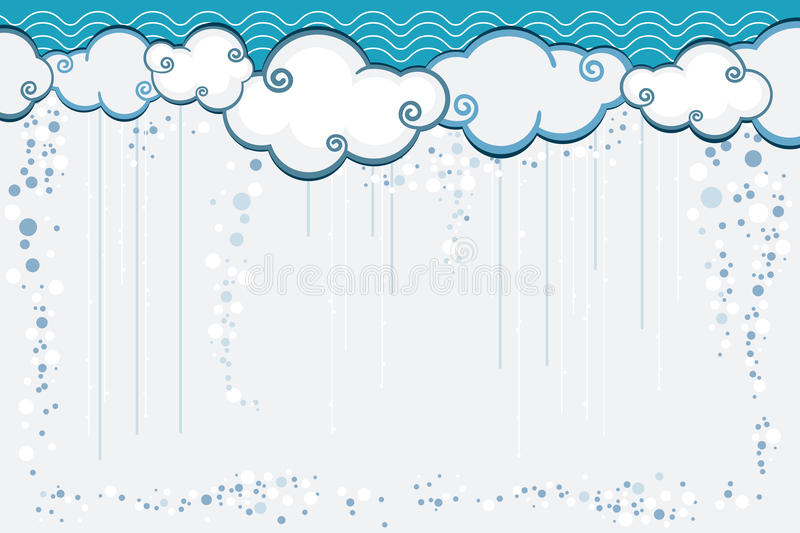 Download Abstract Rain stock vector. Image of rain, abstract, curls - 21803133