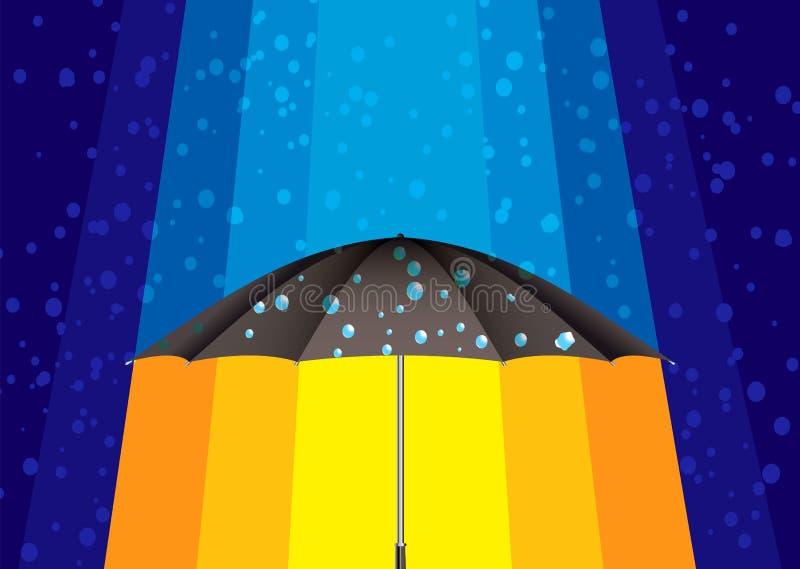 Abstract rain umbrella royalty free illustration