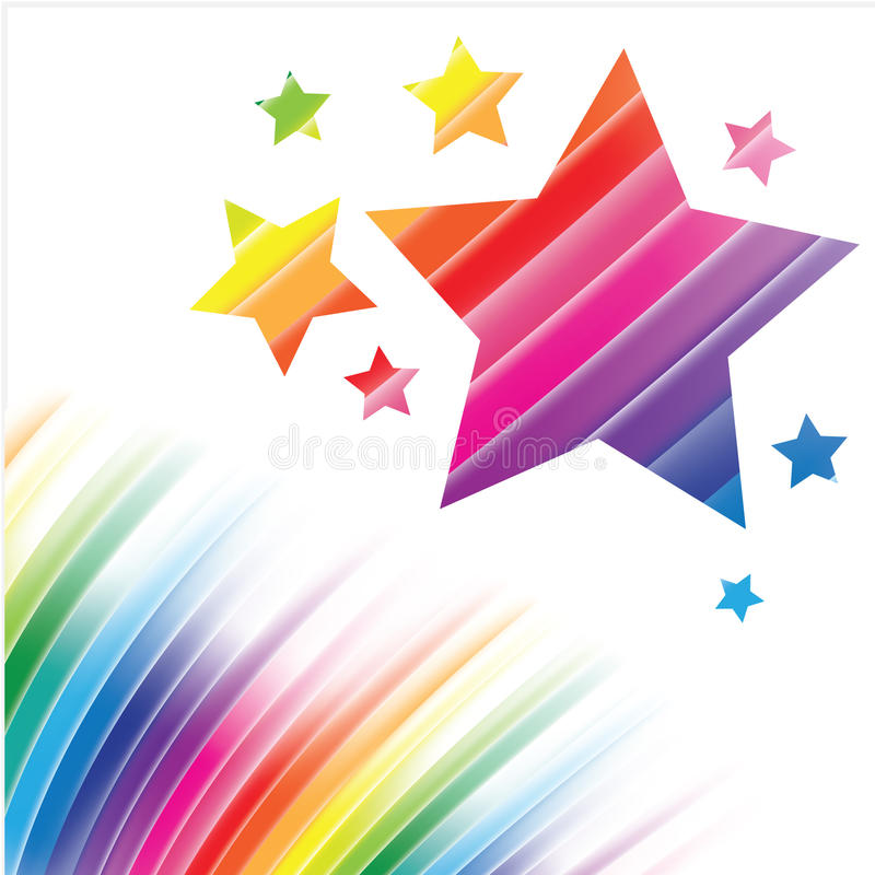 Abstract rainbow background royalty free illustration
