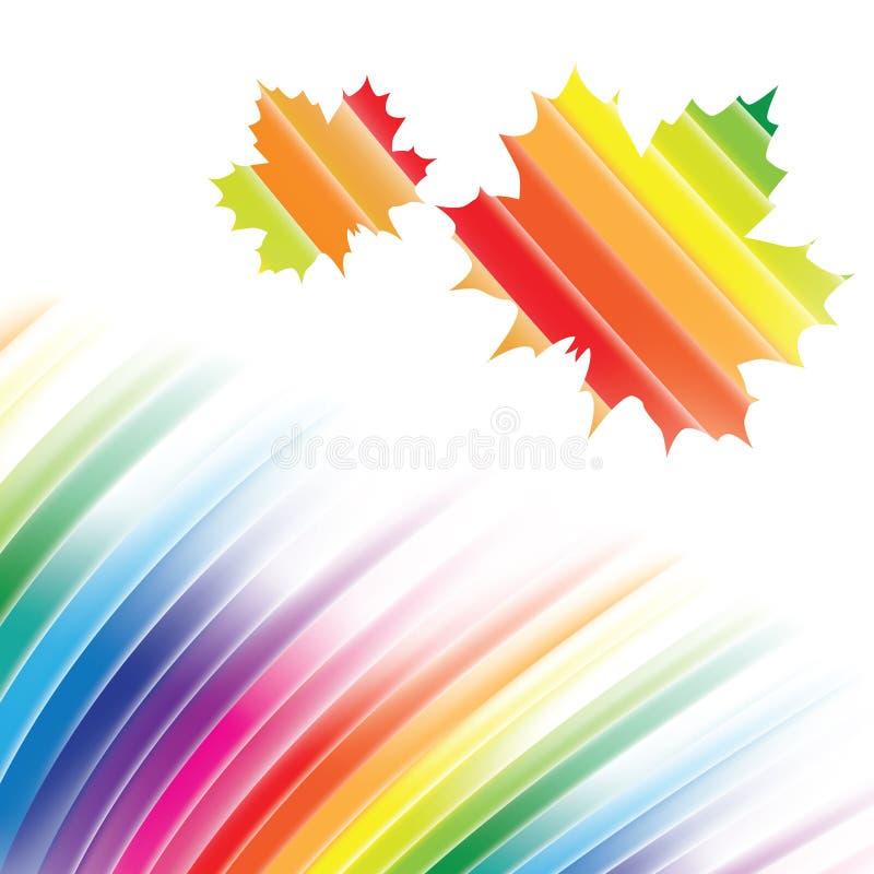 Abstract rainbow background vector illustration