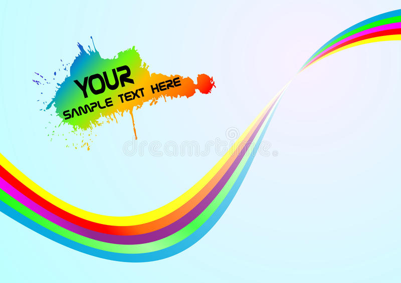 Download Abstract Rainbow Background Stock Vector - Illustration of celebrate, happiness: 14372909
