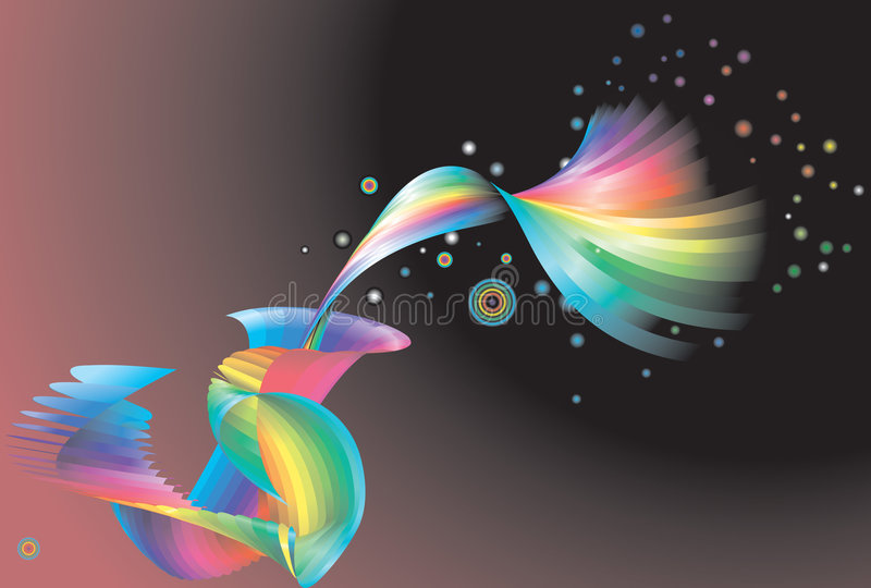 Abstract rainbow background,. An abstract rainbow background no meshes used royalty free illustration