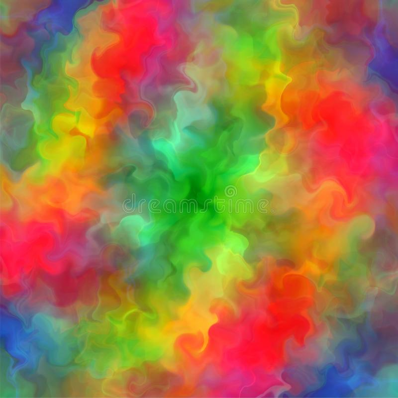 abstract rainbow color paint fractal art background illustration - Rainbow Color