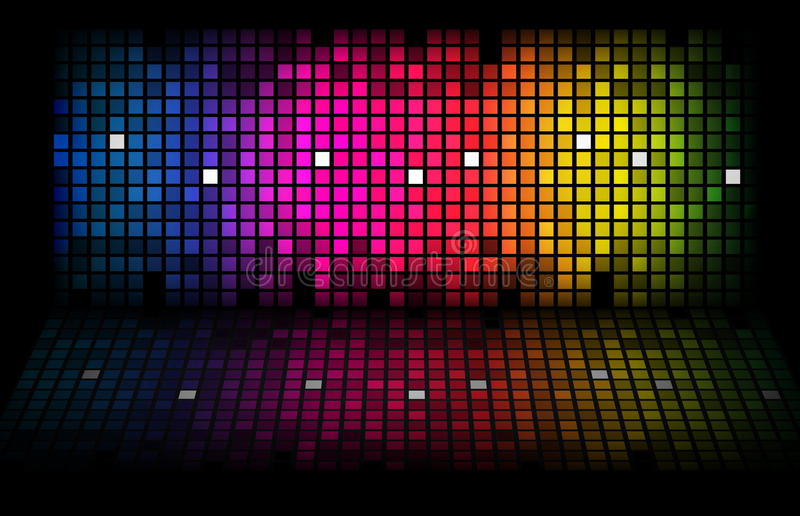 Abstract rainbow - colored background royalty free illustration