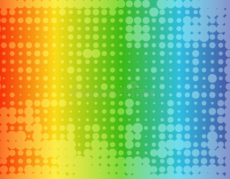 Abstract rainbow colored background stock illustration