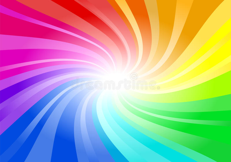 Abstract rainbow colored background royalty free illustration