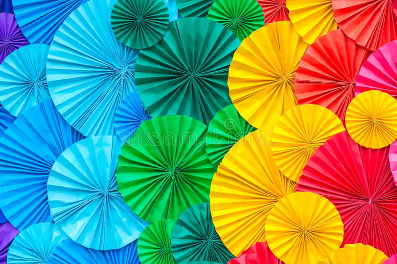Abstract rainbow Colorful of Paper background royalty free stock images