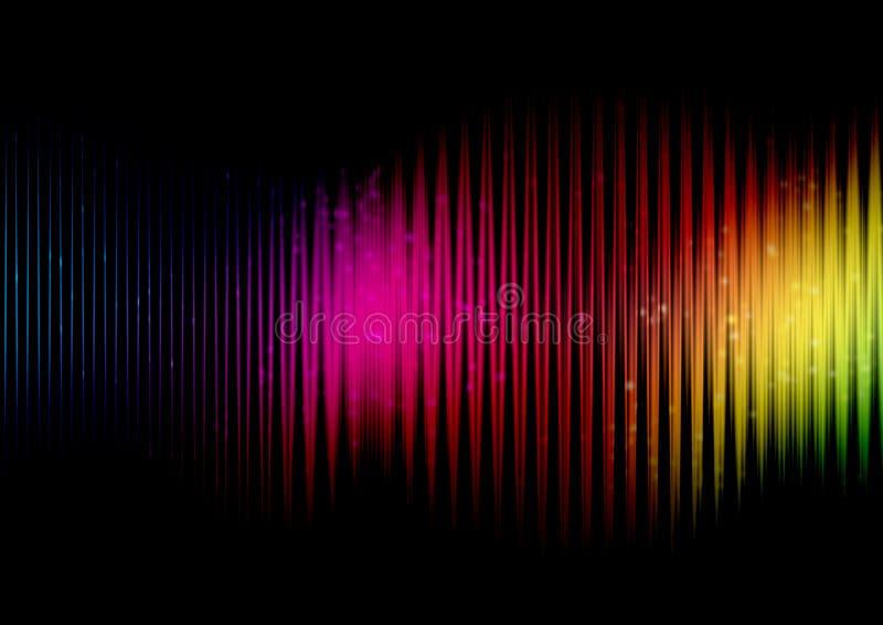 Abstract rainbow colours stock illustration