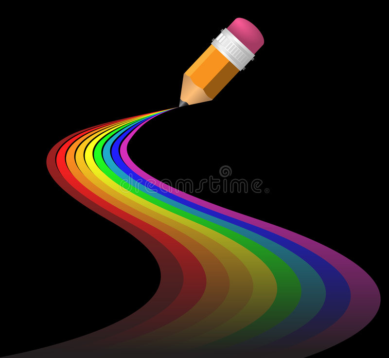 Abstract rainbow curves royalty free illustration
