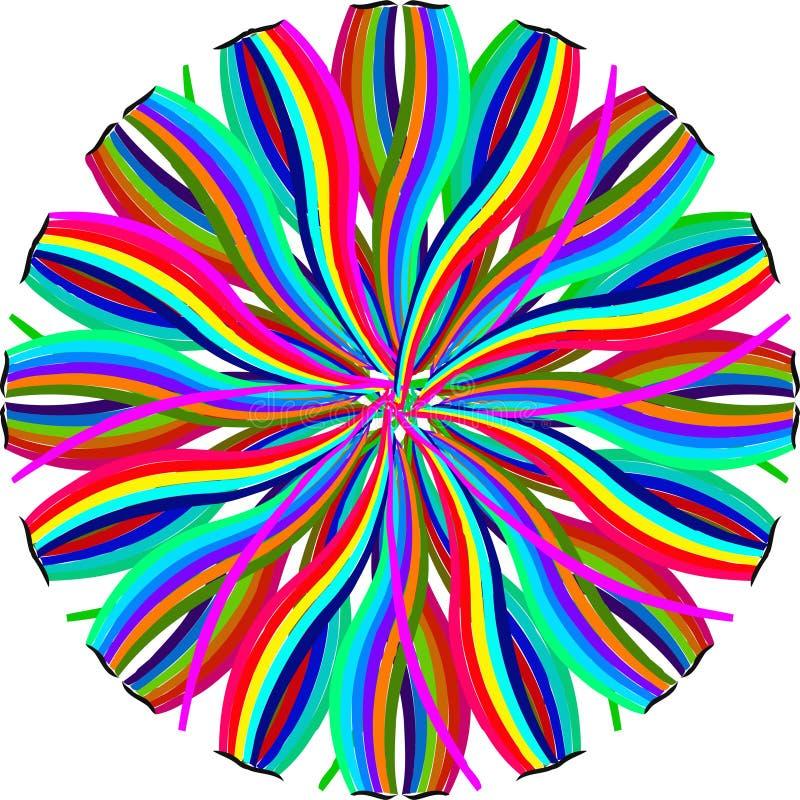 Abstract rainbow shape pattern. Decorative ornament design vector illustration