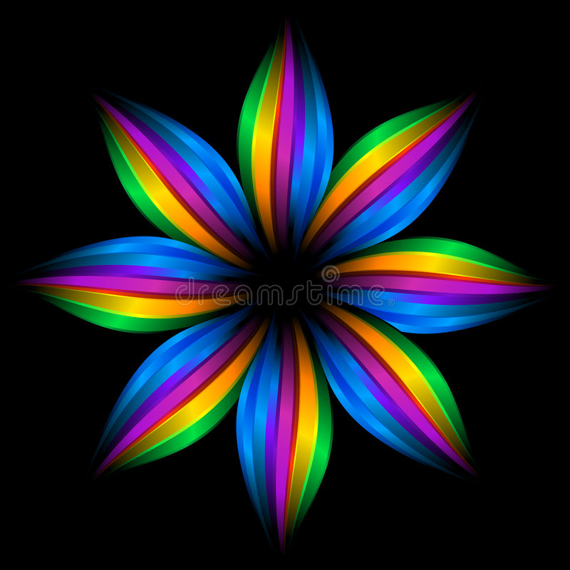 Download Abstract rainbow flower stock illustration. Image of striped - 9164475