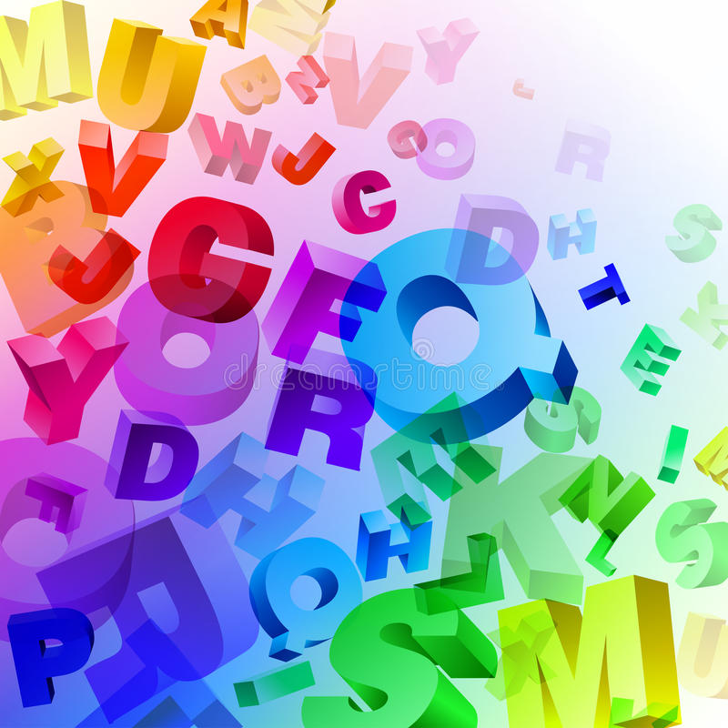 Free Abstract Rainbow Letters Stock Photo - 18151310