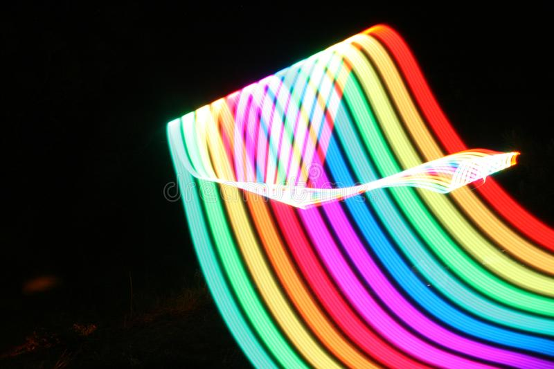 Abstract Rainbow Motion Blur Light. Great for Use as a Background royalty free stock photography