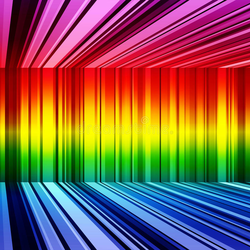 Abstract rainbow stripes retro colorful background