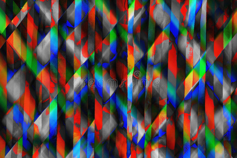 Abstract Rainbow Strips Background stock photo