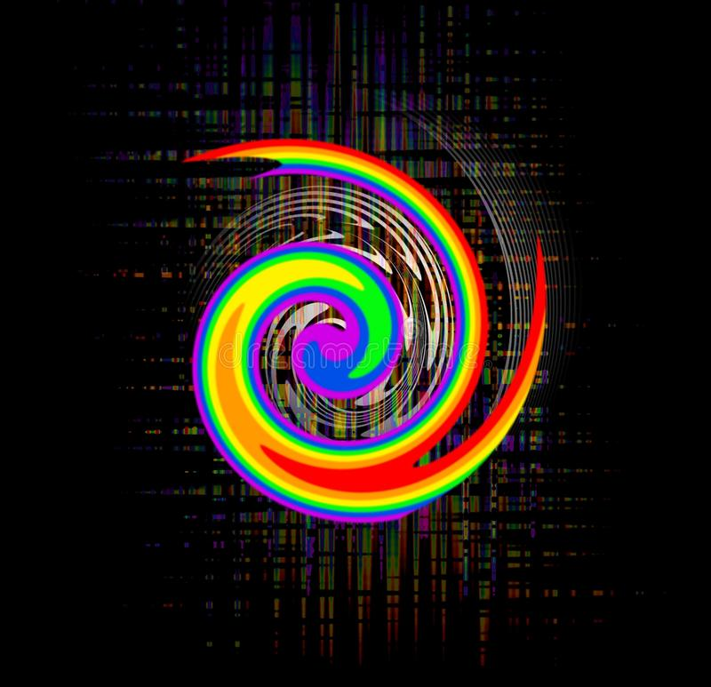 Abstract rainbow swirl royalty free illustration