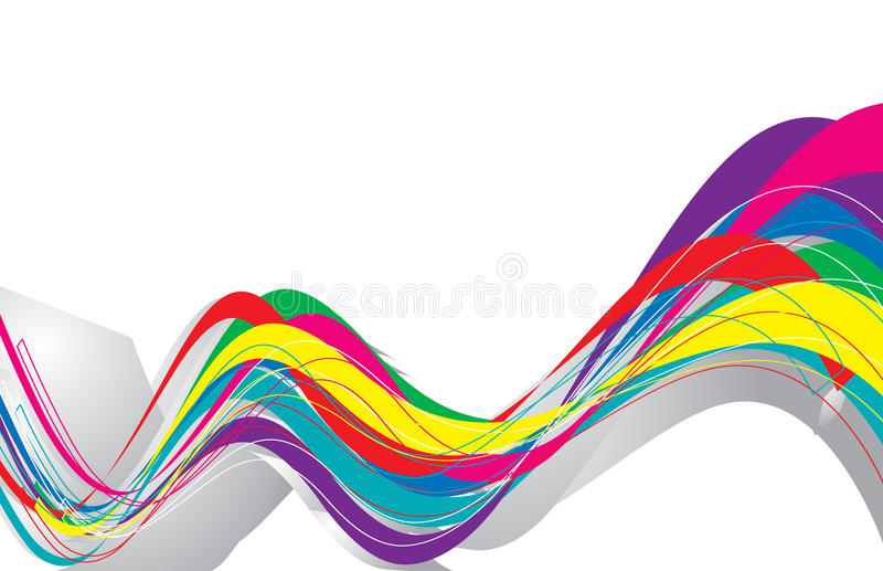 Abstract rainbow wave line vector illustration