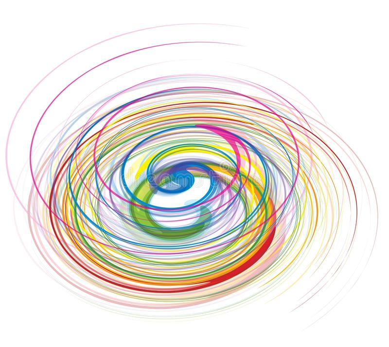 Abstract rainbow wave line royalty free illustration