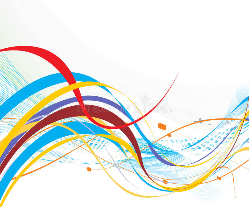 Abstract rainbow wave line stock illustration