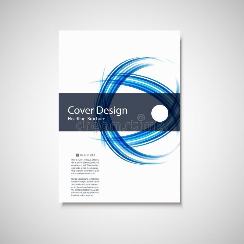Abstract rassenbarrièreelement Het ontwerp van de golfbrochure voor uw dekking, boek, tijdschrift of presentatie royalty-vrije illustratie