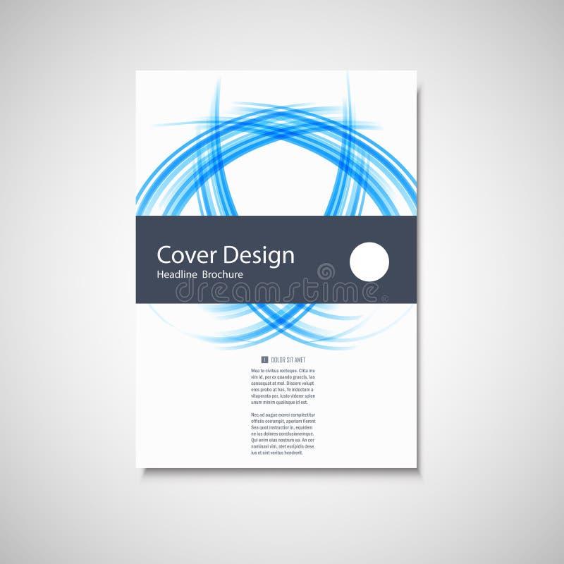 Abstract rassenbarrièreelement Het ontwerp van de golfbrochure voor uw dekking, boek, tijdschrift of presentatie vector illustratie