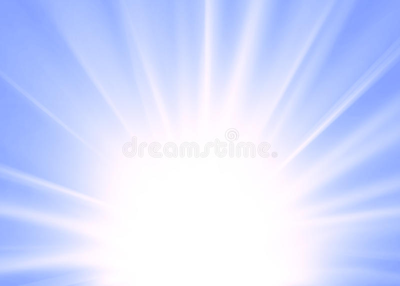 Abstract ray background blue. For design stock illustration