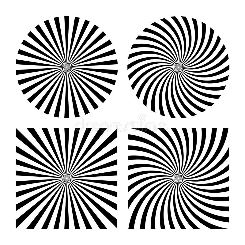 Abstract rays striped pattern stock illustration