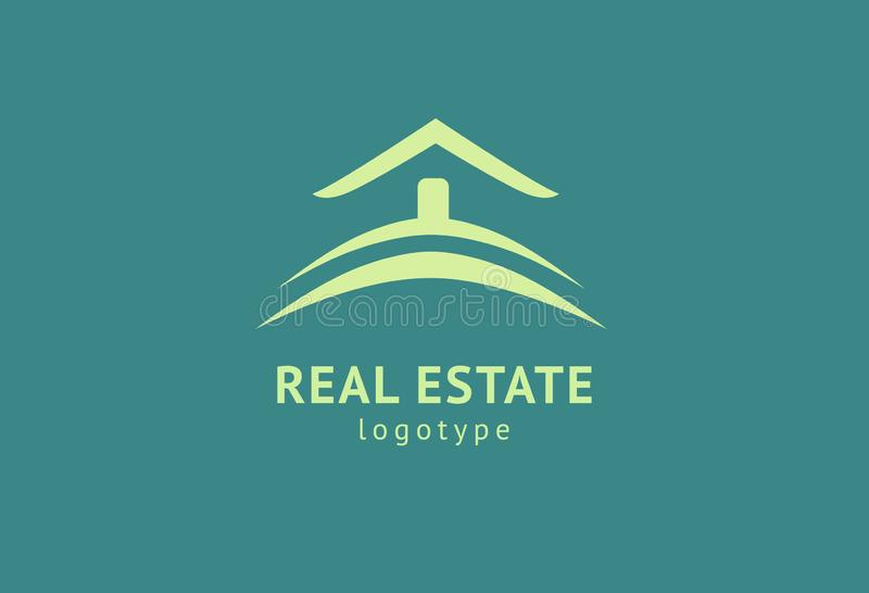 Abstract real estate agent logo icon vector design. Rent, sale of real estate vector logo, House cleaning, home security, real royalty free illustration