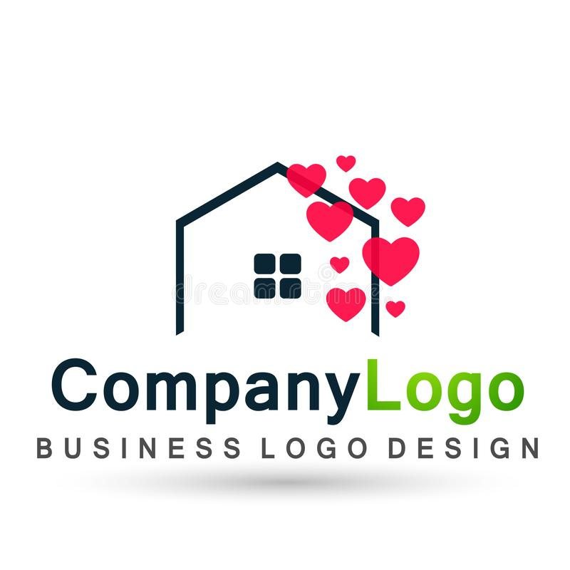 Free Abstract Real Estate Hearts Love Wedding House Roof And Home Logo Vector Element Icon Design Vector On White Background Stock Photo - 161230320