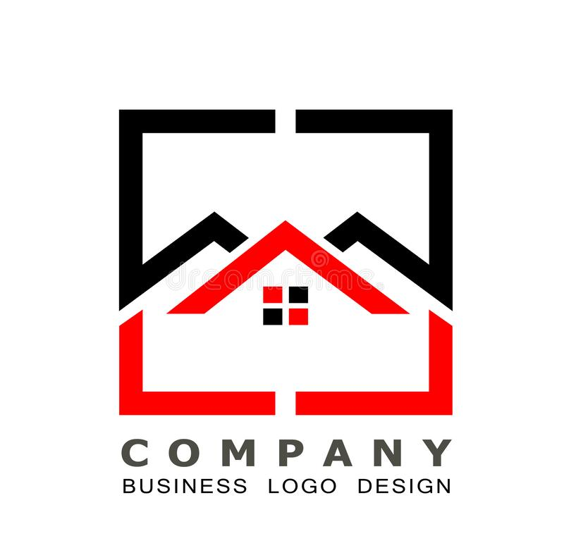 Real estate House roof and home logo vector element icon design vector on white background. Business, collection. stock illustration