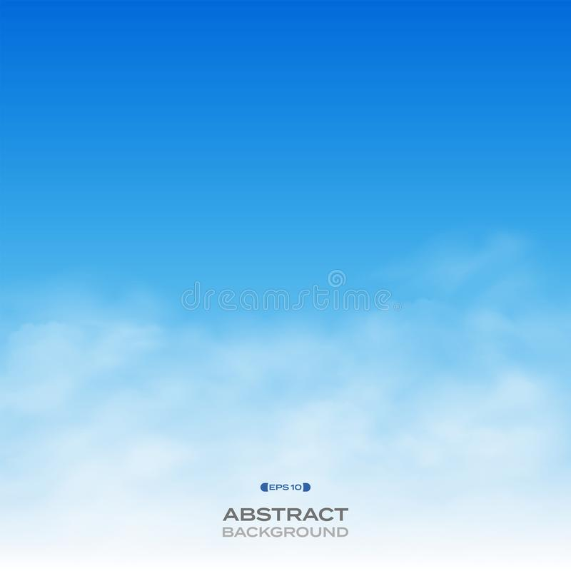 Abstract of realistic clouds on blue sky background. stock illustration