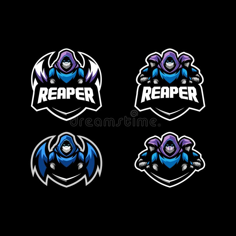 Abstract Reaper Concept illustration vector Design template. Suitable for Creative Industry, Multimedia, entertainment, Educations, Shop, and any related vector illustration