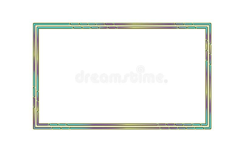 Abstract rechthoekig vectorkader Modern ontwerp stock illustratie