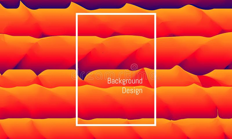 Abstract rectangle blend sand mountain and sea. like the wind make that shape. colorful beautiful background design. vector royalty free illustration