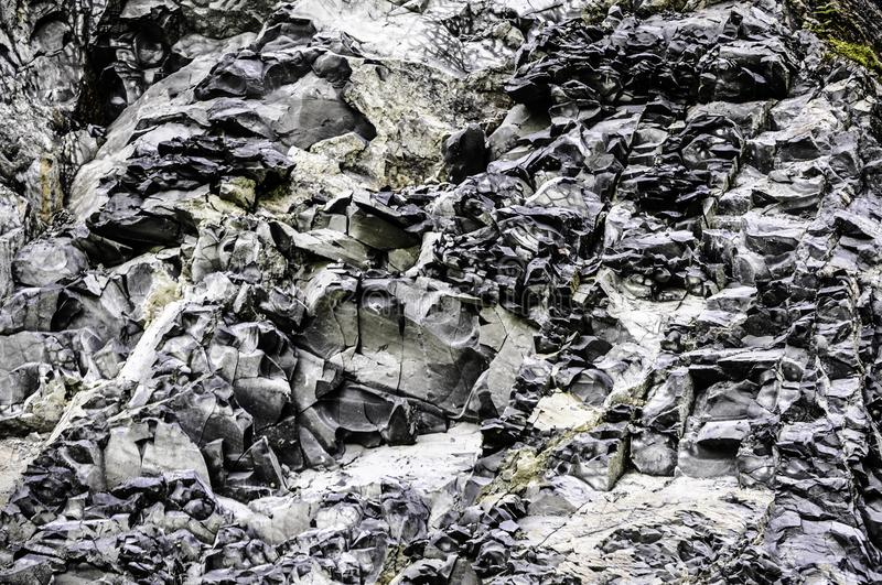 Abstract rectangled stones in black and white stock photography