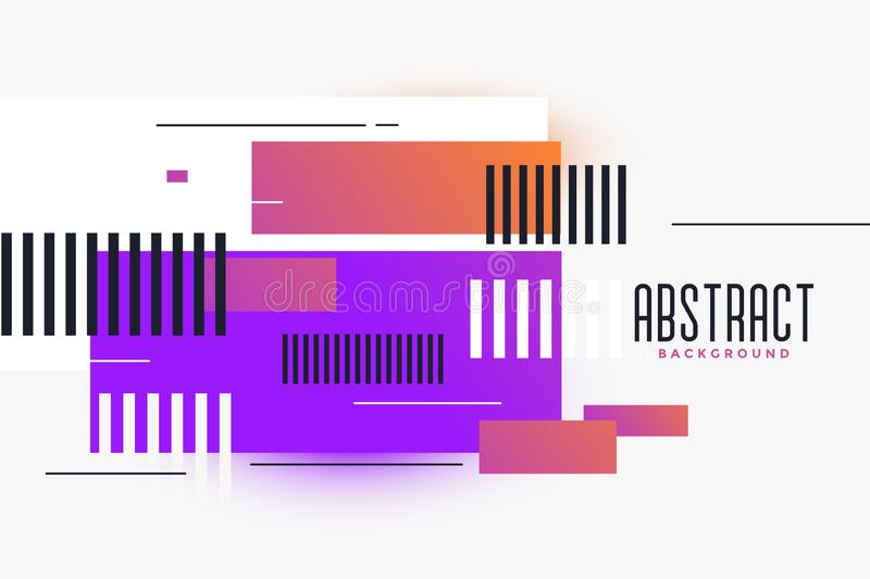 Abstract rectangles shapes vibrant background royalty free illustration