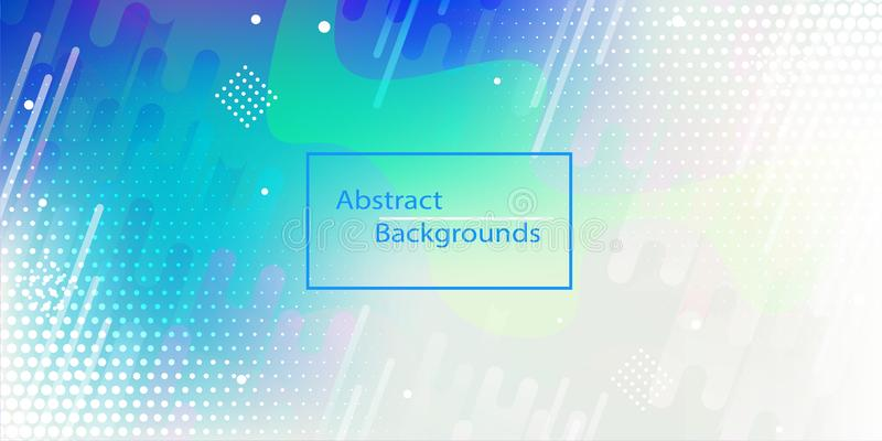 Abstract rectangles technology digital hi tech concept background stock illustration. And Abstract Blue Halftone Background vector illustration