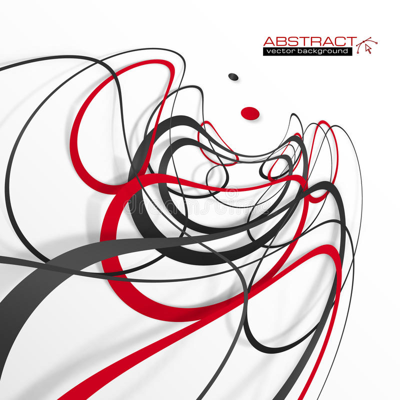 Free Abstract Red And Black Lines With Shadows, Modern Stock Photography - 60820602