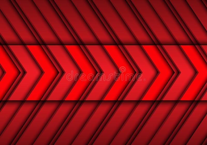 Abstract red arrows pattern design modern futuristic background texture vector royalty free illustration